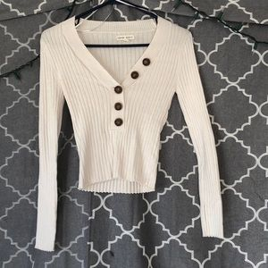 Aeropostale Cropped Vneck Sweater